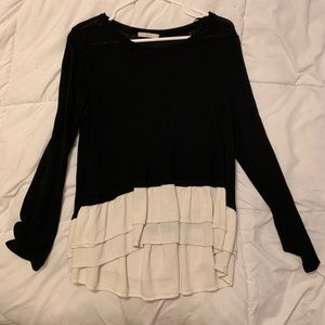 Ruffled Lightweight Sweater